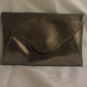 Like New Metallic Silver Clutch Bag
